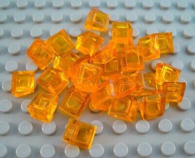 LEGO Lot of 24 Clear Orange Transparent Translucent 1x1x2//3 Mini Slopes