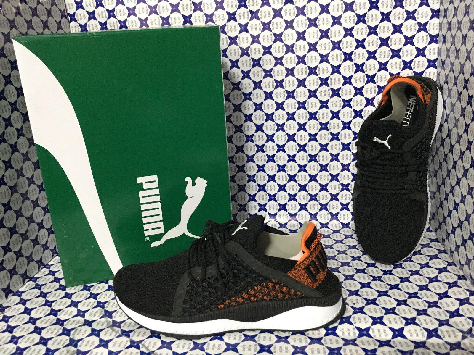 shoes Puma men SCONTATE   Tsugi Netfit - black Arancio - 364629