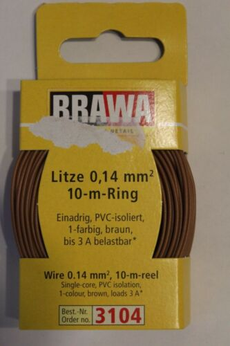 BRAWA 3104 trefolo 0,14 mm² 10 M Anello Marrone OVP 0,17 €