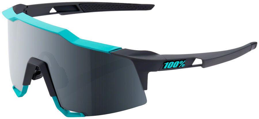 100% SpeedCraft Sunglasses: Soft Tact Celeste verde/Cement Gris Frame