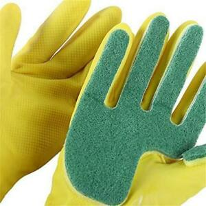 1Pair-Scrub-Latex-Glove-Scourer-Pad-Absorbent-Dish-Cleaning-Sponge-Household