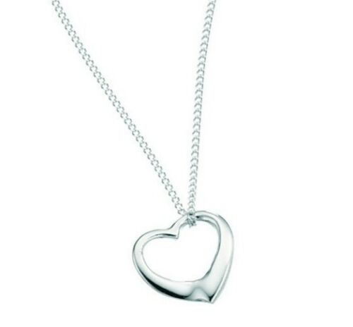 Children/'s kids Jewellery Gift Floating HEART Necklace /& Chain Sterling Silver