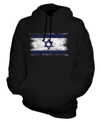 Israël Drapeau Délavé Sweat à Capuche Unisexe Haut Yisrael Israélien Isra ' Il