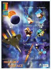 GAMBIA 2000 SPACE & ASTRONOMY S/S + M/S MNH APOLLO-SOYUZ, CONCORD PLANE