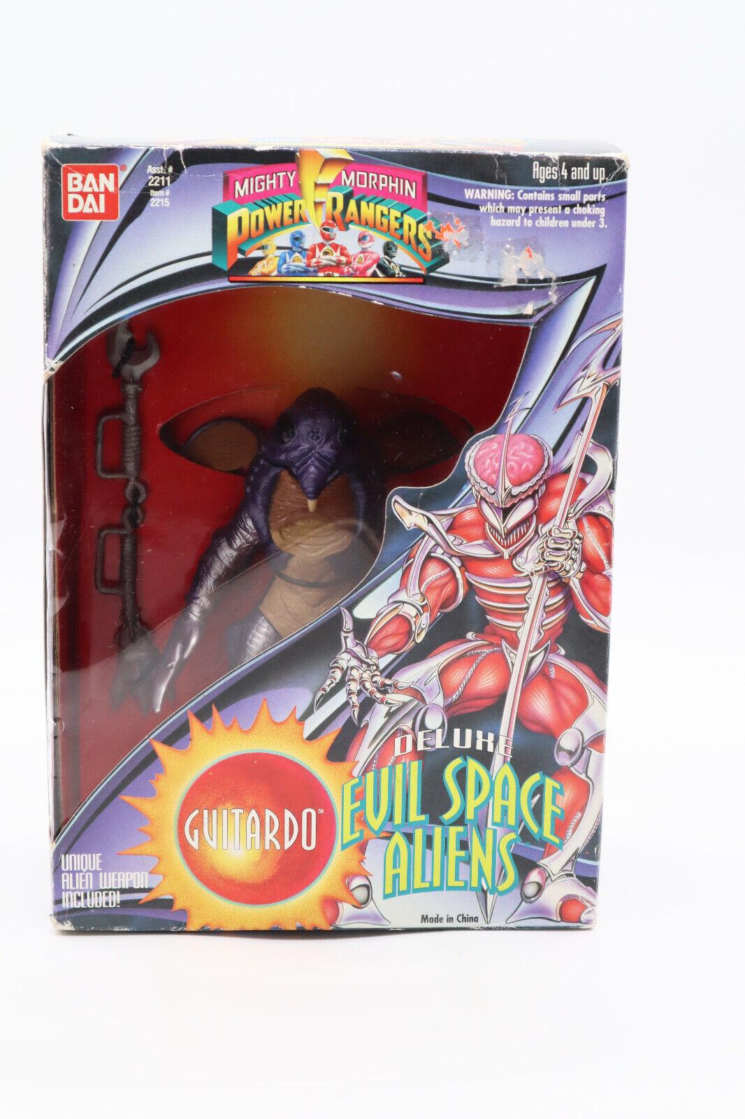 "Details about  /bandai 1994 mighty morphin power rangers 8/"" evil space alien GUITARDO figure"