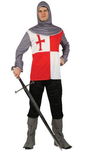 Adulto Crociato Cavaliere Medievale Riccardo Cuor di Leone Costume Uomo Maschio