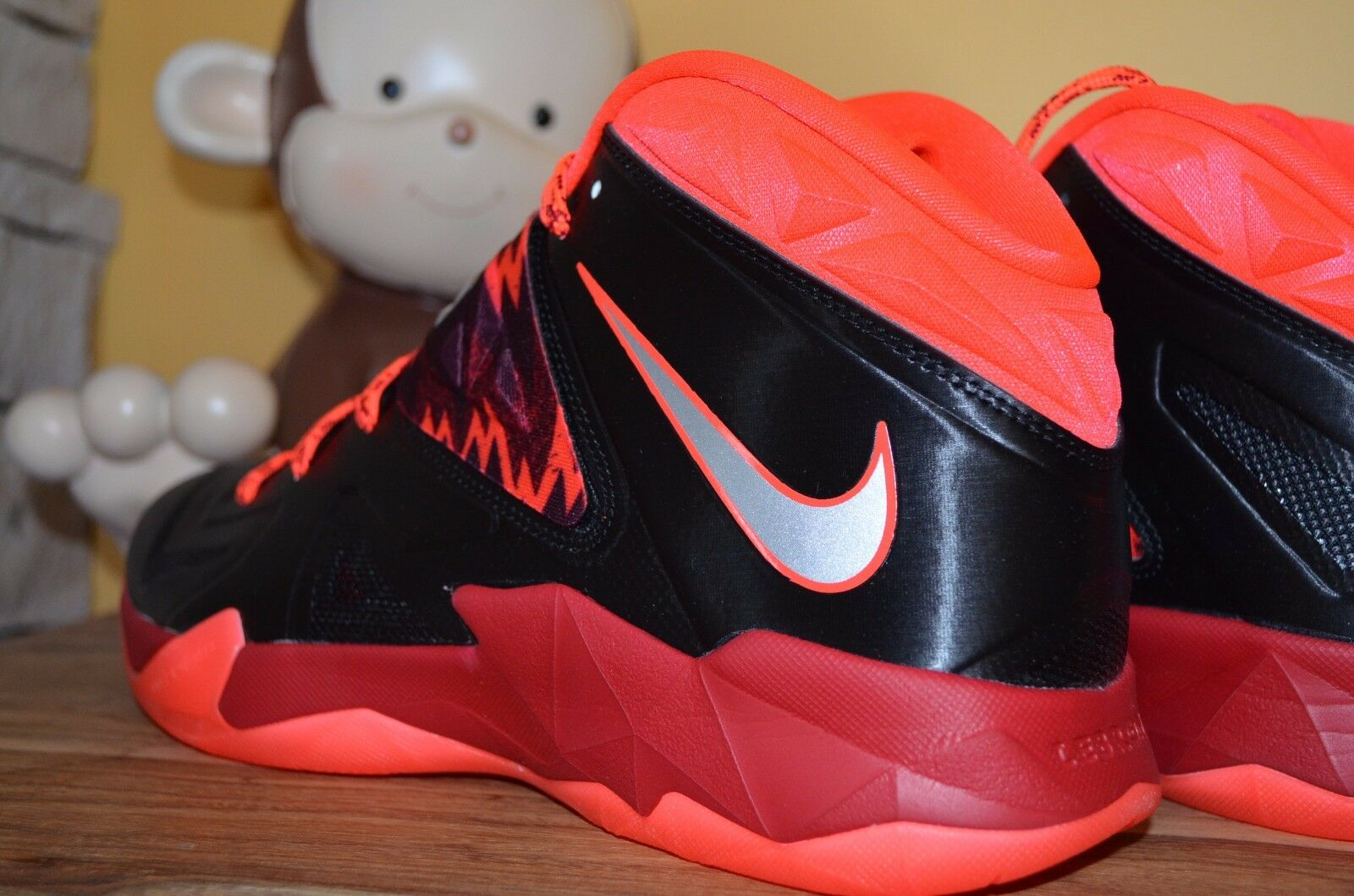092a1e47fbc NEW NIKE ZOOM SOLDIER VII PP Black Orange Gym Red Red Red SZ 10 - 13 ...