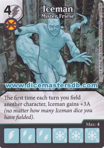 Marvel Dice Masters Iceman Mister Friese #72 Uncanny X-Men