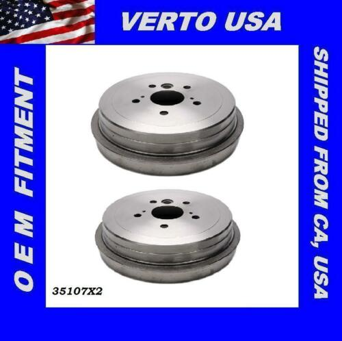 35107X2 Rear Brake Drums For Toyota Camry 2002 2003 2004 2005 2006