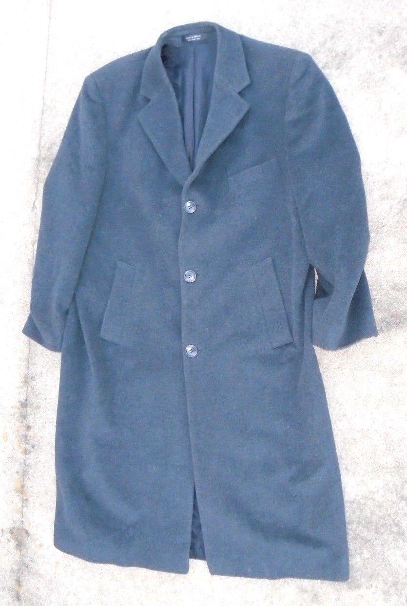 Fine Chaps Ralph Lauren designer charcoal  wool  dress coat size 44SH