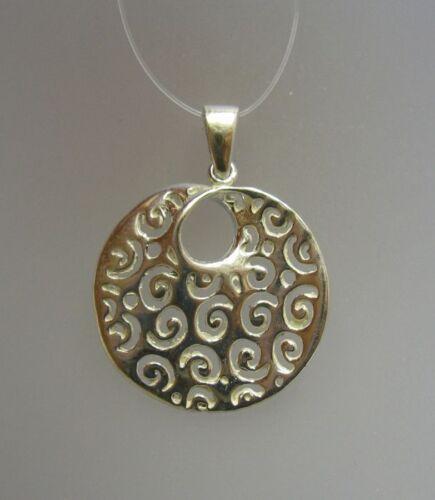 Plain Sterling Silver Pendant Stamped Genuine Solid 925 Handmade Empress