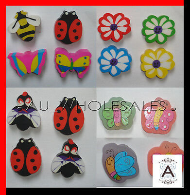 BUTTERFLY/LADYBUG ERASER LOLLY BAG/LOOT BAG FILLER BIRTHDAY PARTY SUPPLIES-1PCE