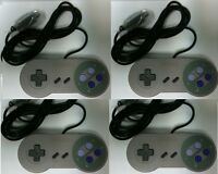 Four 4 16 Bit Controllers For Super Nintendo Snes System Console Control Pad
