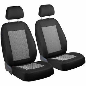 CAR SEAT COVERS FOR HYUNDAI GALLOPER  FRONT SEATS BLACK WHITE STRIPES