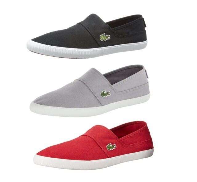 New Lacoste Marice LCR Men's Fashion Casual Canvas Loafer Shoes Sneakers