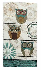 Owl Terry Towel Kay Dee Lifes A Hoot Pattern