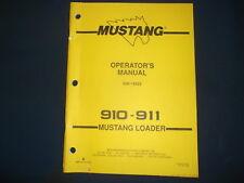 Mustang 910 911 Skid Steer Loader Operator Operation Amp Maintenance Manual Book