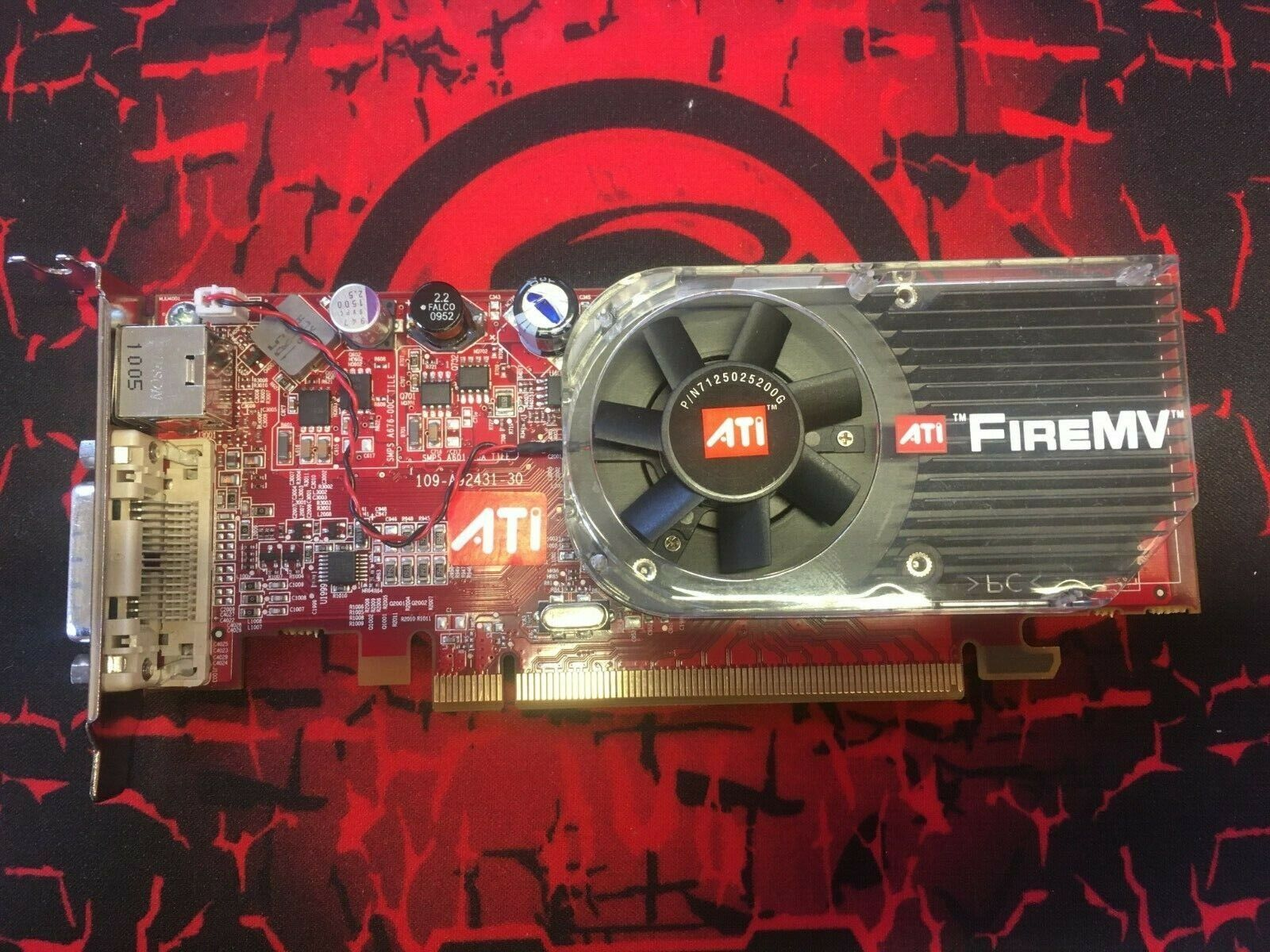 ATI FireMV Video Graphic Card 2250 PCle 256Mb 102A9240734 Low Profile
