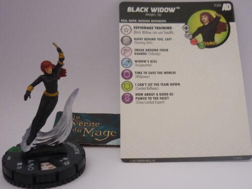 #026 Black Widow *UC* HEROCLIX AVENGERS DEFENDERS WAR