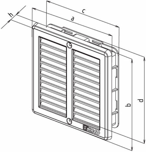 Stainless Steel Air Vent Grille Covers with Fly Screen Ventilation Grill Cover