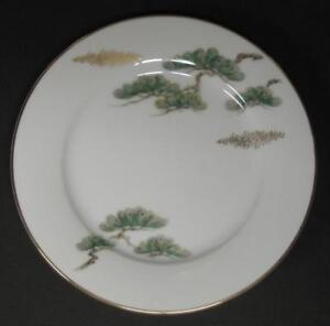 Noritake-Ming-2-BREAD-amp-Butter-PLATES-Asian-Bonsai-Branch-5612-Several-Available