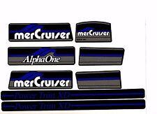 MERCRUISER THE NEW BLUE  ALPHA ONE GEN ONE W/BLUE RAMS STICKER SET
