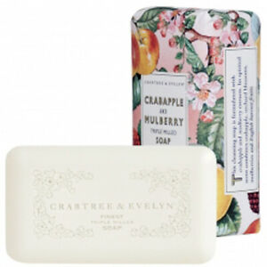 Crabtree-amp-Evelyn-Crabapple-and-Mulberry-Triple-Milled-Bar-Soap-5-57-oz-New