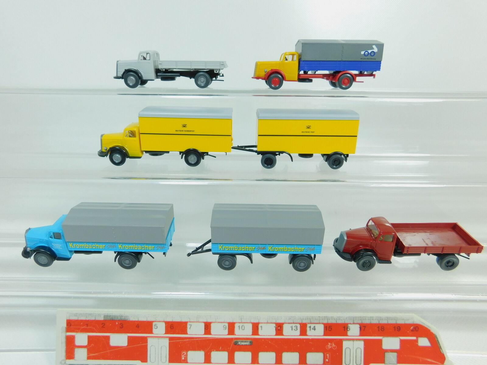 BO469-0,5x Wiking H0 H0 H0 1 87 LKW Mercedes-Benz MB L 3500  Post + Krombacher etc 2ee1b3