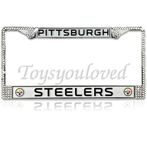 image is loading pittsburgh steelers nfl bling license plate frame made