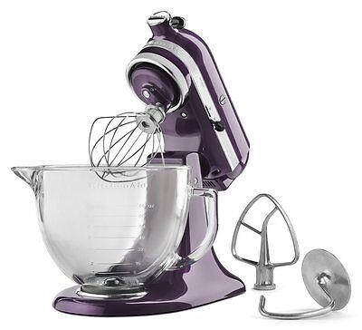 KitchenAid 5-Quart Glass Bowl Artisan Design Series Stand Mixer KSM155GBPB, New