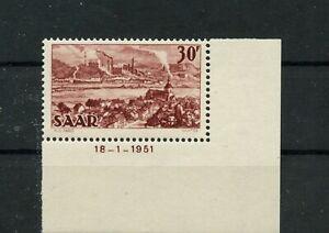 Germany-Saar-Saarland-vintage-yearset-1949-Mi-285-Br-MH-Folded-1