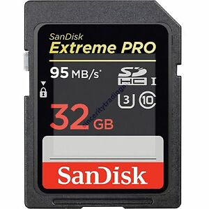 SANDISK Extreme Pro 32GB Class 10 SD Memory Card