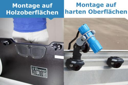 Montage bohren 03-4014-11 Railblaza Sideport Halterung Heckspiegel schwarz