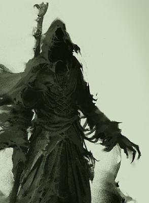 Gothique photo art Encadrée Imprimer-Vague GRIM REAPER Le Signe avant-coureur de la mort