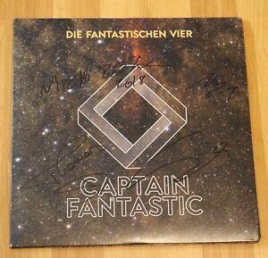 ORIGINAL-Autogramme-von-den-Fantastische-Vier-Auf-VINYL-12-034-CAPTAIN-FANTASTIC