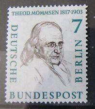 Berlín sellos 1957 mi.163 hombres de la historia Theodor Mommsen post frescos