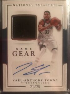 2016-17-National-Treasures-Karl-Anthony-Towns-Autograph-Jersey-25-Timberwolves