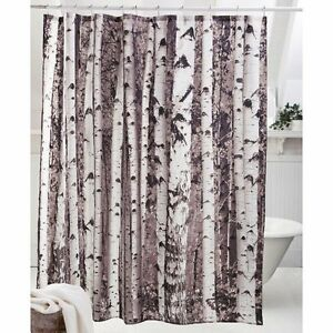 Image Is Loading Kikkerland SHOWER CURTAIN BIRCH Tree Forest Polyester BATHROOM