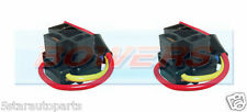 PAIR OF X2 H4 3 PIN HEADLIGHT REPLACEMENT/REPAIR BULB HOLDER/CONNECTOR PLUG WIRE