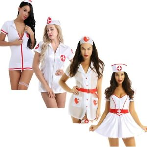 Naughty-Sexy-Women-Nurse-Cosplay-Uniform-Costume-Outfit-Halloween-Fancy-Dress