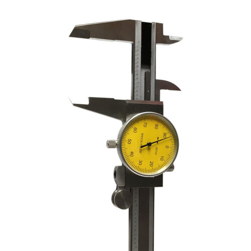 Yellow Face Dial 0.001 Inch Graduation 0-6 Inch Stainless Steel 4 Way Caliper