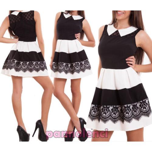 Women/'s Dress Minidress Suit Revolves short Lace Collar Striped Zip New Cj-2189