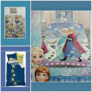 Disney-Frozen-Eiskoenigin-Minions-Bettwaesche-Kinder-ich-einfach-unverbesserlich