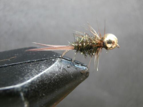 1 DOZEN TUNGSTEN HEAD PEACOCK NYMPHS FOR FLY FISHING-TUNG-41