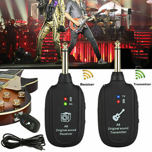 UHF-Guitar-Wireless-System-Transmitter-Receiver-Built-In-Rechargeable-Battery