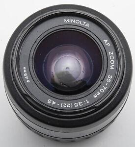 Minolta AF Zoom 35-70 mm 35-70mm 3.5 (22) 4.5 1:3.5-4.5  Minolta / Dynax Sony A