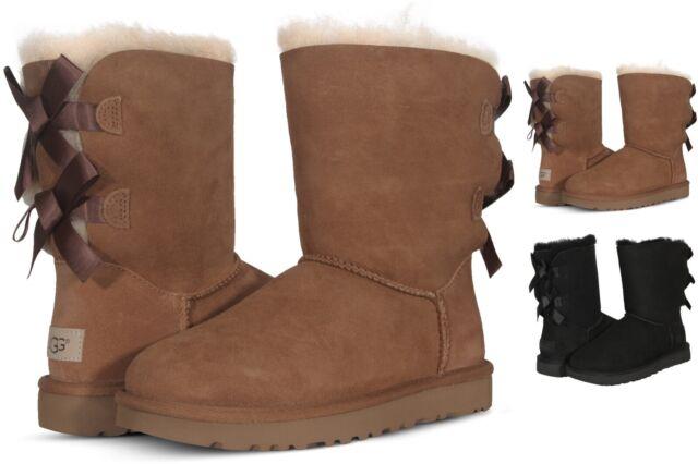 UGG Australia Bailey Bow II Womens Boots Chestnut Black 1016225