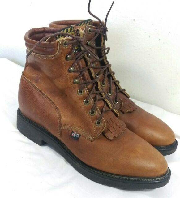 f193a224abf Justin Mens 12.5 Original Lace-up Work Boots - Aged Bark Leather Style 0770