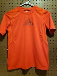 grava Ocurrir loto  Adidas Niño Manga Corta Camiseta Talla Grande Naranja Con Letras   eBay