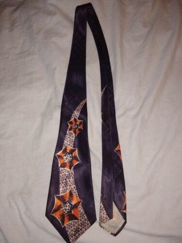 1940's Vintage Neck Tie, Spider Webs